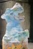 Antoon van Wijk, Glazen sculptuur van een nijlpaard, pâte de verre, 1990 - Antoon van Wijk