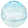 Alfredo Barbini, Rare spherical clear glass vase, Murano, 1980s - Alfredo Barbini