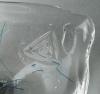 Paul Citroen, Leerdam Unica, transparante schaal met blauwe decoratie, 1960 - Paul Citroen