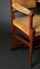 H.P. Berlage/M.J. Hack, Mahonie armfauteuil met gestoken figuur en inlegwerk, ca. 1905 - Hendrik Petrus (H.P.) Berlage