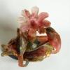 Richard Price, Pate-de-verre glassculptuur met vogels, vissen en bloem, 2008 - Richard Price