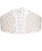 Azzedine Alaïa White Cut-Out And Laced Up Leather Belt