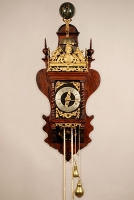 A good Dutch Zaanse rosewood wall clock with quarter striking, by C. van Rossem, circa 1700