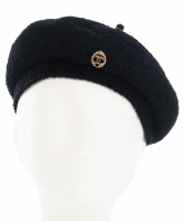 Chanel Beret in Zwart Wol