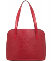 Louis Vuitton Lussac Tote Bag in Red Epi Leather