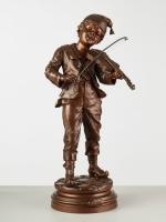 Bronzen beeld muzikant