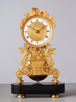 A small French long duration Skeleton Clock, circa 1820