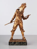 A French Art Deco Harlequin Bronze by Luce, circa 1910