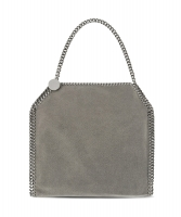 Stella McCartney Light Grey 'Falabella' Shaggy Deer Small Tote - Stella MCCartney