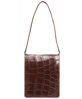 Vintage Pierre Cardin Brown Croco Shoulder Bag - Pierre Cardin
