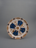 "A Dutch Delft Doré Dish, so Called ""Pancake"" Dish"