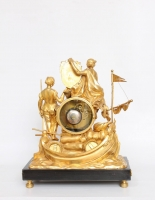 Een Franse Louis XVI verguld bronzen pendule, Les Corsaires Le Nepveu, circa 1770