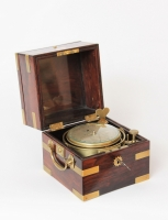 A rare English rosewood chronometer with 24-hour dial, Robert Molyneux, circa 1835