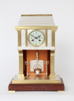 A French industrial mantel clock by Guilmet, circa 1890