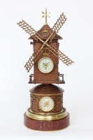 A rare French industrial mantel clock, windmill, circa 1880