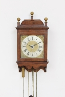 A rare Dutch walnut Amsterdam wall clock, Jacob Hasius, circa 1725