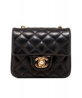 Chanel Black Micro Mini Classic Cross Body Bag