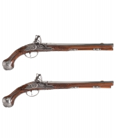 Pair Flintlock Pistols by 'Oger Leblan'