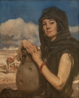 Arab woman with pottery jar