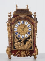 A beautiful French late Louis XIV 'Religieuse' mantel clock by Bonneual, circa 1700