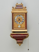 A small tortoiseshell French bracket clock by Gaudron a Paris, circa 1690