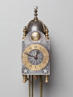 An English miniature striking lantern wall clock