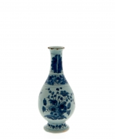 A Blue and White Delft Small Bottle
