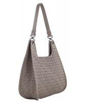 Bottega Veneta Grey Intrecciato Shoulder Bag - Bottega Veneta