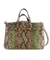 Gucci Bright Bit Multicolor Snakeskin Top Handle Tote