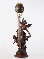 A French Swinger (Mystery) clock by Auguste Moreau, circa 1900