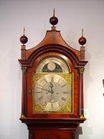 A fine English mahogany longcase clock with pagoda top by James Gibb Stockton circa 1770