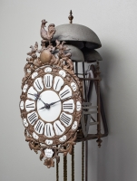 A French quarter striking lantern clock by Fardoil, circa 1775