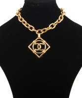 Vintage Chanel CC Square Link Necklace - Chanel