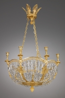 Russian gilt bronze Six-Light Empire Chandelier