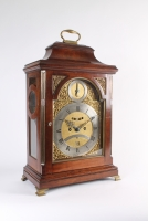 A rare German mahogany table clock of 8-day duration by Peter Behrens Schleswig, circa 1770.