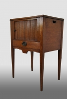 Small Dutch pedestal cupboard with drawer, oak.
