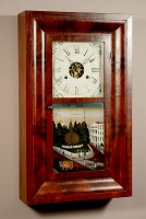 An American mahogany ogee shelf clock by Seth Thomas