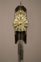 A good French brass striking alarm lantern clock Rouelle A Bayeux, circa 1730