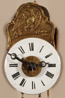 A miniature German Black Forest alarm so-called 'Sorg' wall timepiece, circa 1840