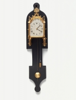 An unusual miniature Austrian 'gothic revival' wall clock, circa 1835