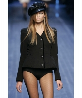 Fall 2005 Christian Dior Runway Black Wool Blazer