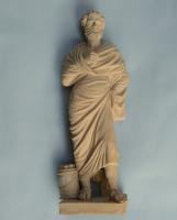 Terracotta statue of the Lateran Sophocles by Giorgio Sommer