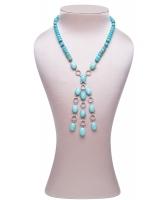 Siman Tu Turquoise Tassel Necklace - Siman Tu