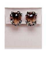 Siman Tu Smoky Quartz Cushion Cut Earrings - Siman Tu