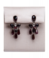 Siman Tu Garnet Drop Earrings