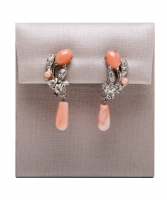 Siman Tu Coral Drop Earrings - Siman Tu