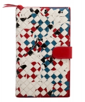 Bottega Veneta Intrecciato Abstract French Wallet