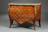 Dutch Louis XV Parquetery Commode