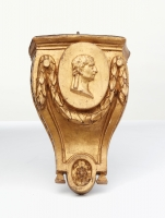 A useful small French gilded wall bracket, circa 1780