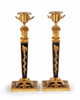 A Pair of Russian Empire candlesticks